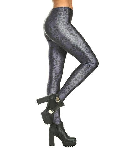 SILVER SKELETON LEGGINGS