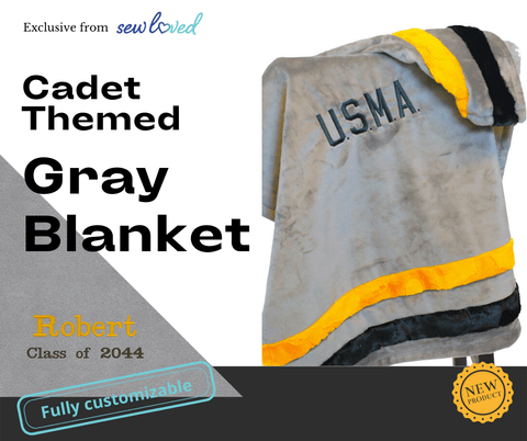 West Point gray blanket for babies
