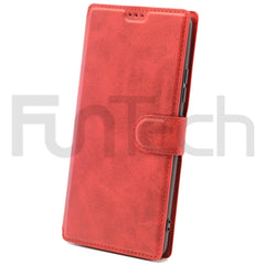 Samsung A42 Leather Wallet Case Color Red
