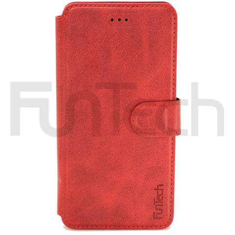 iPhone 12 Mini Leather Wallet Case Color Red