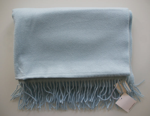 Woven Cashmere Stole - Baby Blue