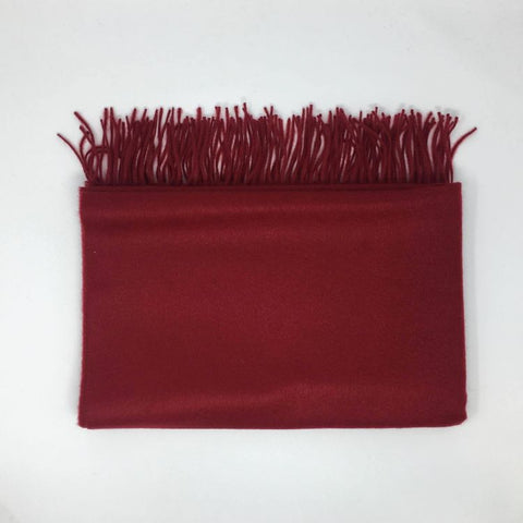 Woven Cashmere Wrap - Claret Red