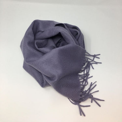 Classic Cashmere Woven Scarf - Lilac - Now Only £35