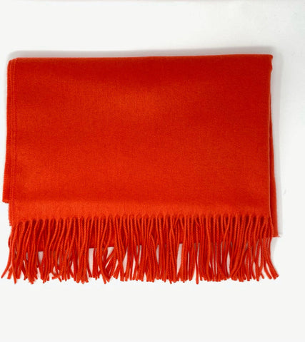 Classic Cashmere Woven Scarf - Electric Red - Now Only £30