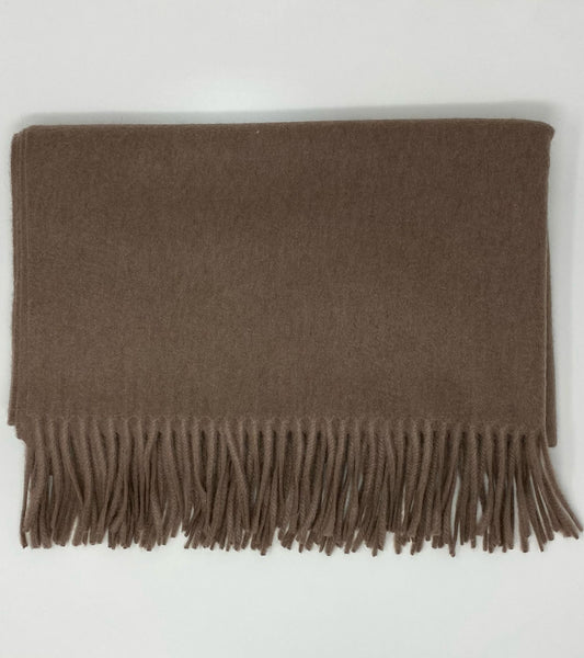 Woven Cashmere Wrap - Brown