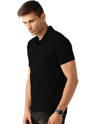 Black Polo Tshirt For Men's