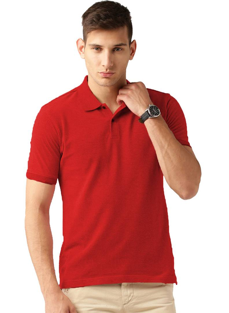 Red Polo Tshirt For Men's