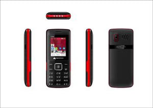Refurbished Micromax X380 Dual sim mobile (Red )