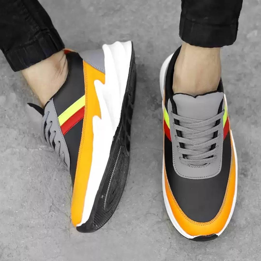 Stylish Multicolor Canvas Self-Design Casual Shoes for Men