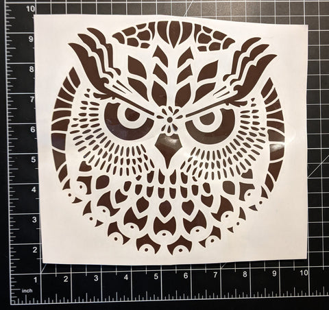 "9""x9"" Brown Tribal Owl 