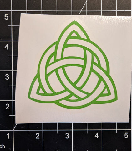 "3"" x 3"" Green Trinity (Triquetra) Circle Celtic Knot"