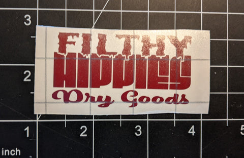 Filthy Hippies Dry Goods Logo Sticker
