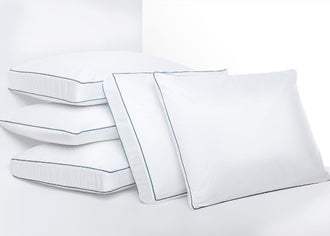 Agility traditional and side-sleeper pillows stacked