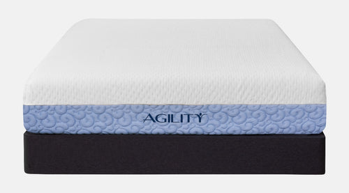 Agility foundation base with a Hybrid mattress over it.