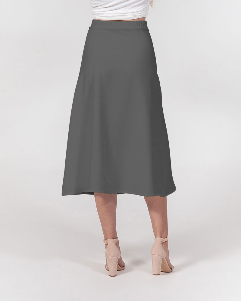 JF Women's A-Line Midi Skirt (Grey)