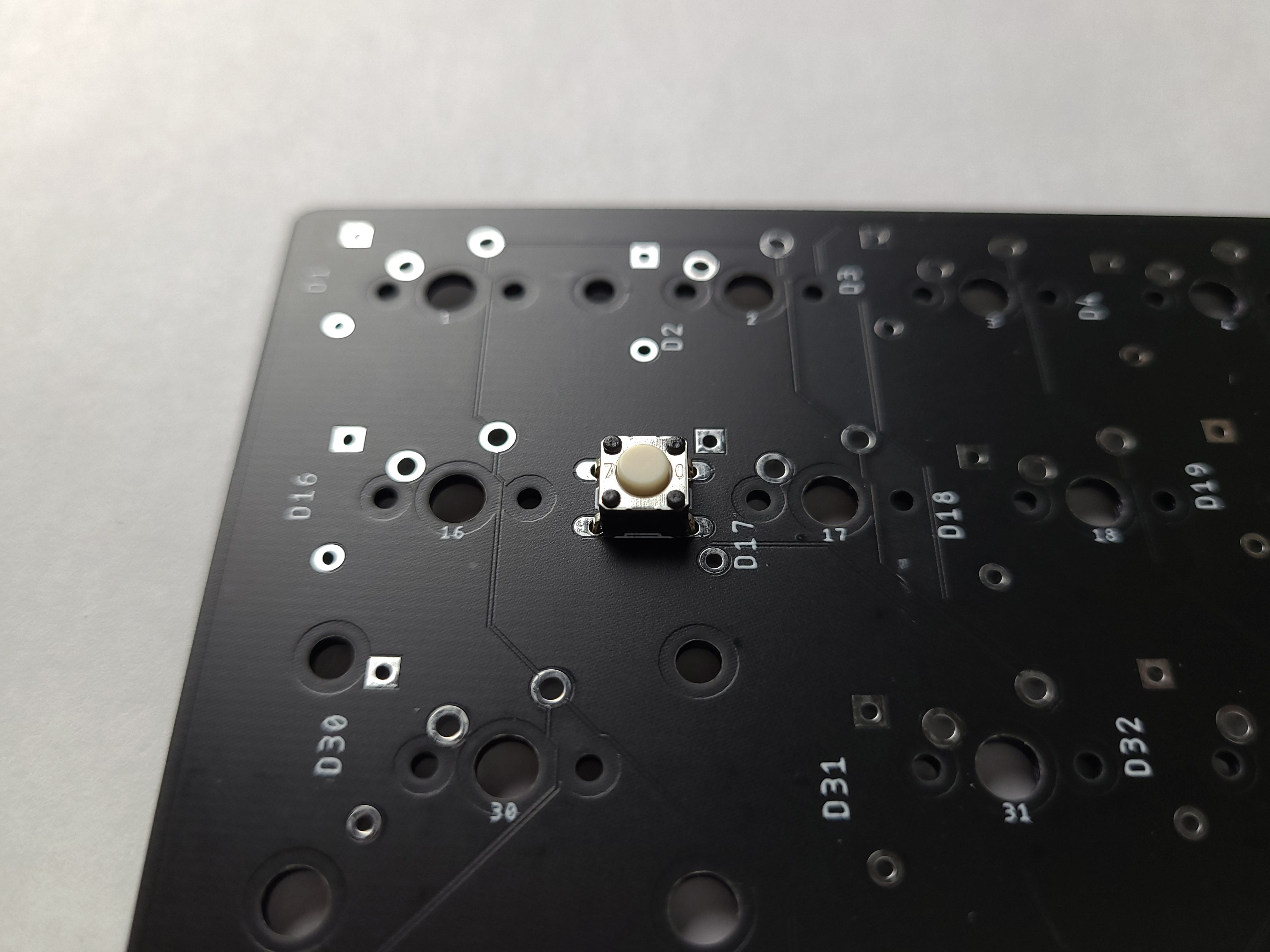 reset switch in pads on PCB