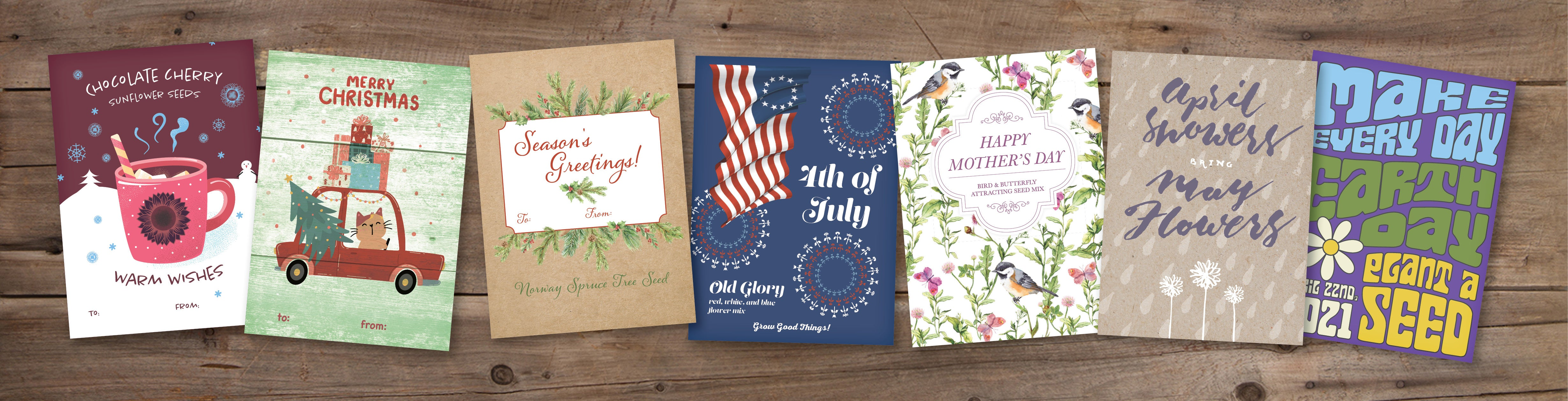Seasonal Seed Packet Favors Christmas Fourth of July Mother's Day Celebrate Seasons