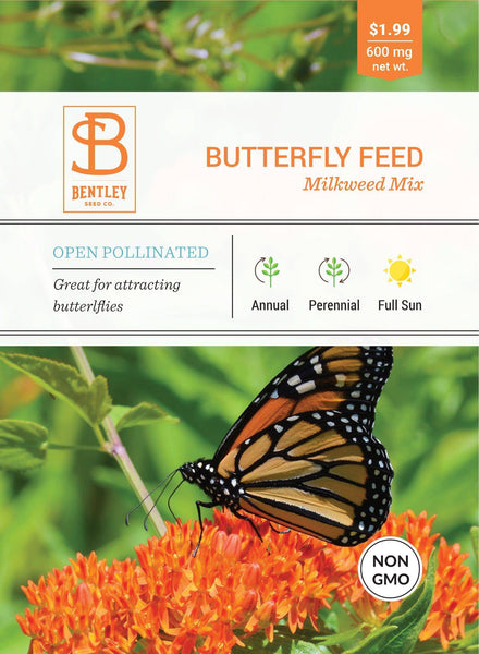 Butterfly Feed, Milkweed Mix Packets - Bentley Seeds