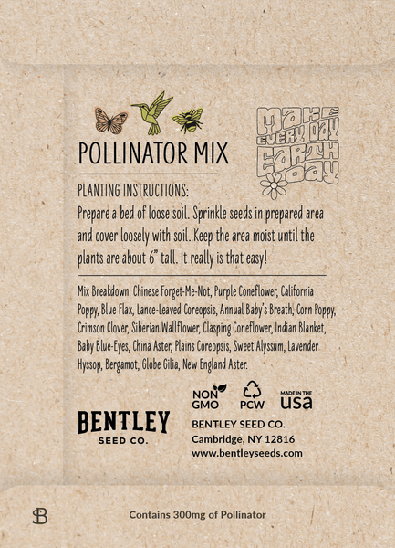 "Earth Day 2021 ""Pollinator Mix"" Wildflower Seed in ..."
