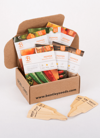 HOT Peppers Seed Packet Kit - Bentley Seeds