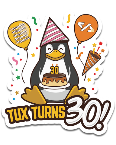 Tux Anniversary Decal