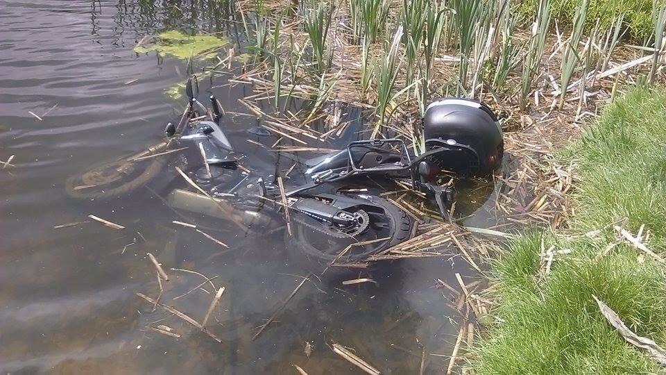 My bike in a pond
