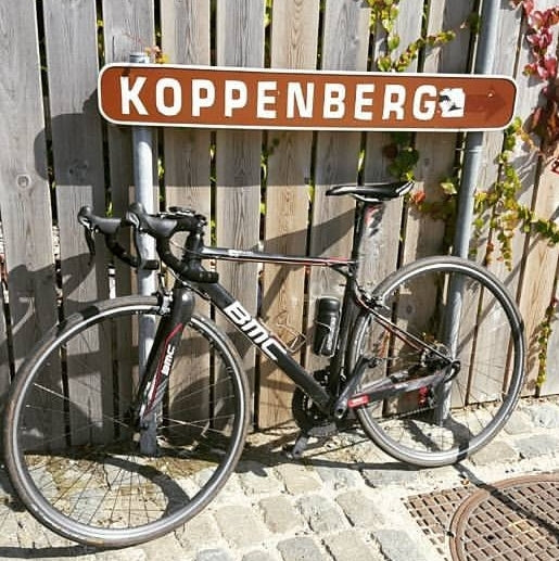 BMC bike on the Koppenberg