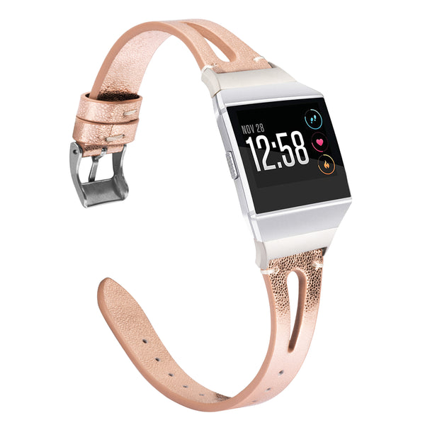 Wearlizer Fitbit Ionic Bands Women Men, Genuine Leather Replacement Band