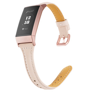 Wearlizer  Fitbit Charge 3 Bands/Fitbit Charge 4 Band for Women Men Slim Leather