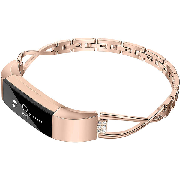 Wearlizer Fitbit Alta Bands Small Silver Rose Gold Fitbit Alta hr Women Metal