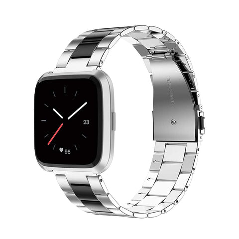 Wearlizer Stainless Steel Fitbit Versa/Versa 2 /Versa Lite/Versa SE Bands Women Men,Ultra-Thin Lightweight