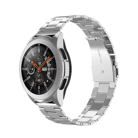 Wearlizer Stainless Steel Compatible with Samsung Galaxy Watch 42mm/Active 2 40mm/44mm Band,Ultra-Thin Lightweight Band Galaxy Watch 42mm/Galaxy Watch Active
