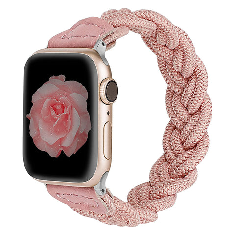 Wearlizer Apple Watch Bands Slim Elastic Braided Loop Strap Wristband Stretchy Woven