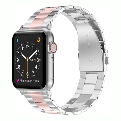 Wearlizer Stainless Steel Apple Watch Band Ultra-Thin Lightweight