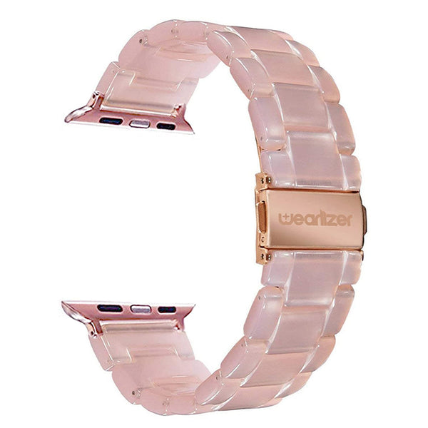 Wearlizer Apple Watch Band Metal Resin Steel Clasp