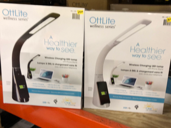 Ott Lite wellness series wireless charging LED lamp