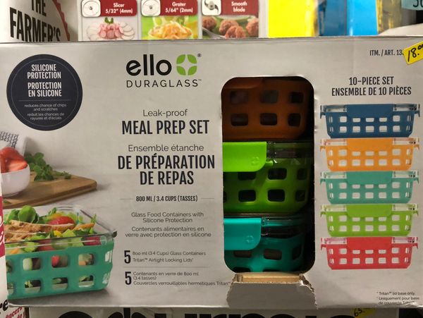 Ello 10 piece glass food containers