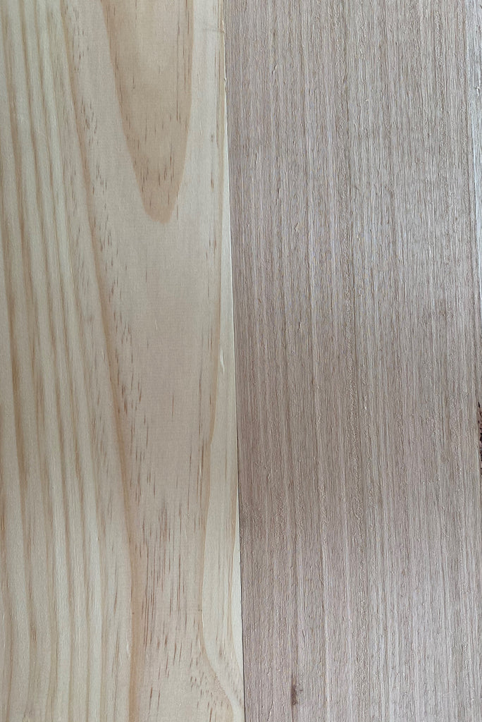 What is the difference between Tasmanian Oak and Pinewood