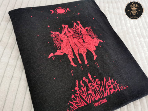Triblend Red Witches Gothic T-shirt