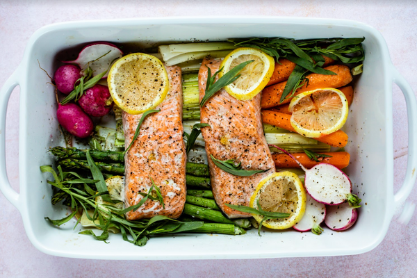 Baked Salmon Recipe with Spring Vegetables