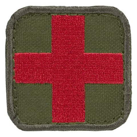 "Condor - Medic First Aid Patch - 2"" x 2"" - O.D. Green"