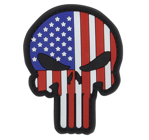 Condor Punisher American Flag PVC Patch Hook & Loop Back