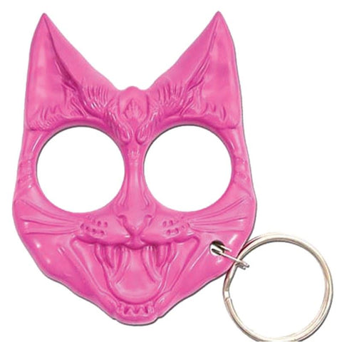 Kitty Kat Defense Keychain - Pink