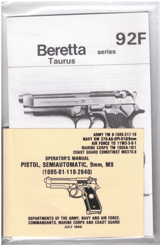 Beretta Taurus & Pistol Semi-Auto 9mm Manual