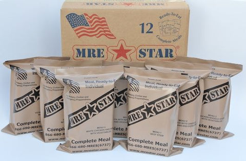 MRE STAR - Case of 12 MRE's Without Heaters