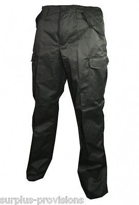 "New Black BDU Army Cargo Pants - Choice of sizes - Military type #SL-2291[28"" Waist]"