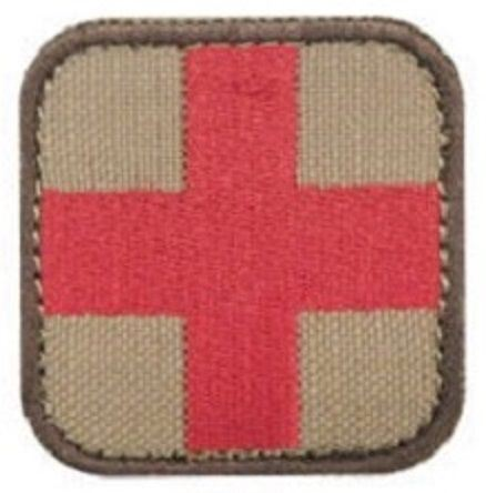 "Condor - Medic First Aid Patch - 2"" x 2"" - Tan"