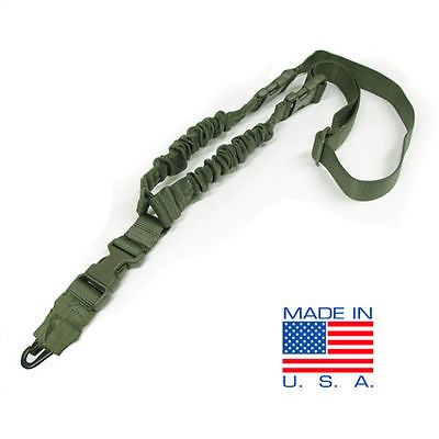 Condor Cobra Double Bungee 1 Point Rifle Sling with HK Snap Hook - OD #US1001