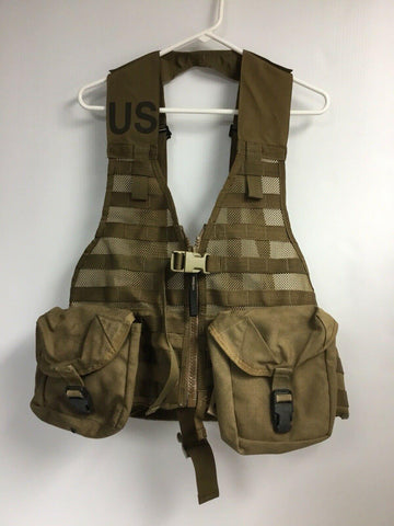 US Military Issue Modular Lightweight MOLLE II Vest Coyote & First Aid Pouches
