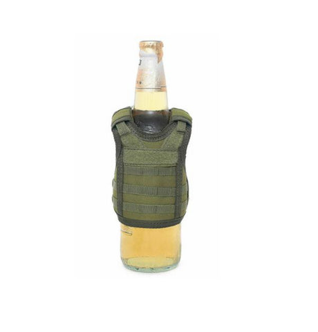 Tactical Beer Molle Vest Beverage Koozie OD Green